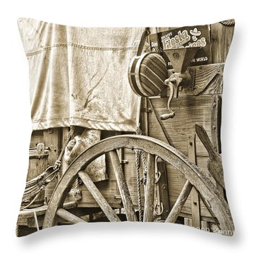 Chuck Wagon Throw Pillow by Kenny Francis