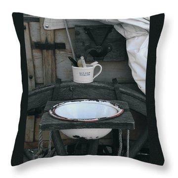 Chuckwagon Wash Basin Throw Pillow