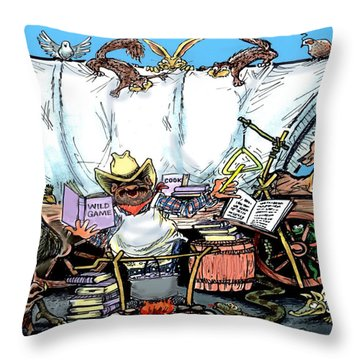 Chuckwagon Throw Pillow