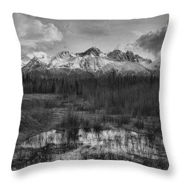 Chugach Mtn Range Throw Pillow