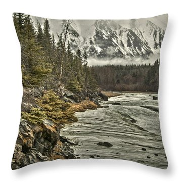 Chugach Range Throw Pillow