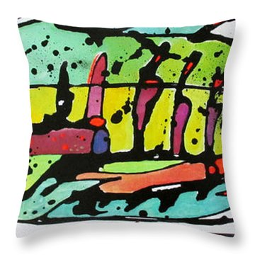 Throw Pillow featuring the painting Chum by Nicole Gaitan