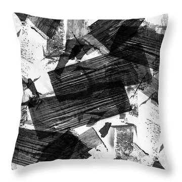 Throw Pillow featuring the digital art Chunky Abstract Revisited by Chriss Pagani
