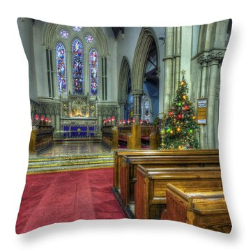 Church At Christmas V3 Throw Pillow