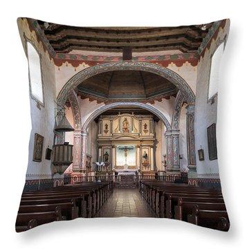 Church At Mission San Luis Rey Throw Pillow by Sandra Bronstein
