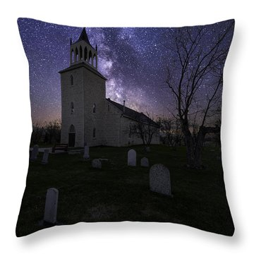 Church At Night Throw Pillow