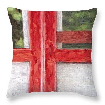 Church Camp House Detail Painterly Series 11 Throw Pillow
