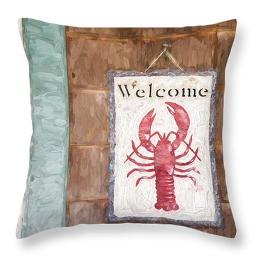 Church Camp House Detail Painterly Series 12 Throw Pillow