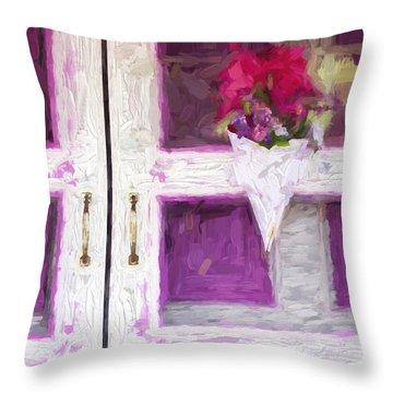 Church Camp House Detail Painterly Series 16 Throw Pillow