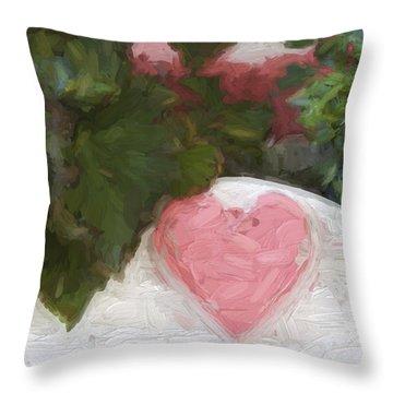 Church Camp House Detail Painterly Series 20 Throw Pillow