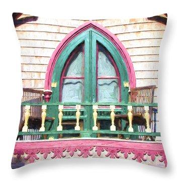 Church Camp House Detail Painterly Series 8 Throw Pillow