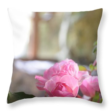 Church Flowers Throw Pillow by Jeremy Voisey