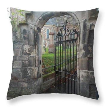 Church Gate Throw Pillow