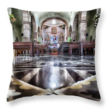 Church In Bernal Throw Pillow