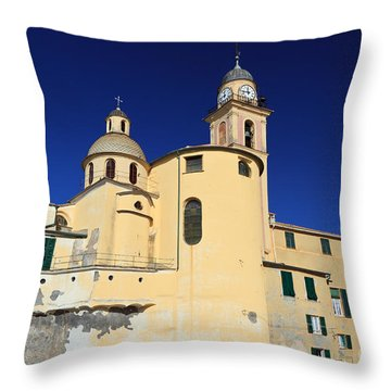 Throw Pillow featuring the photograph Church In Camogli by Antonio Scarpi