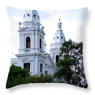 Church In Puerto Rico Throw Pillow