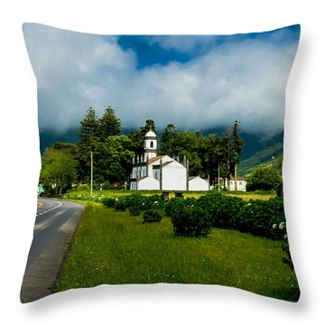Church In Seven Cities Throw Pillow