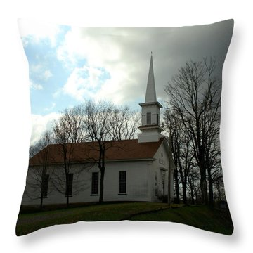 Church In The Country Throw Pillow