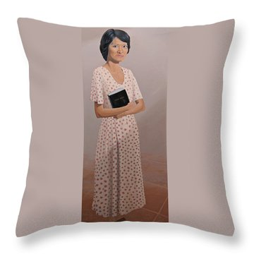 Church Lady Throw Pillow