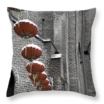Church Lanterns Throw Pillow
