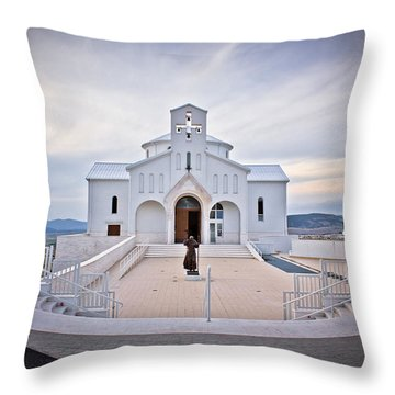 Church Of Croatian Martyrs In Udbina Throw Pillow by Brch Photography