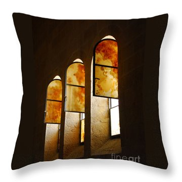 Church Of Heptapegon In Israel Throw Pillow by Eva Kaufman