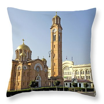 Church Of Jesus The Saviour Throw Pillow by Ladi  Kirn