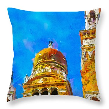Church Of Madonna Dell'orto Throw Pillow by Greg Collins