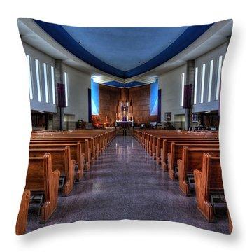 Church Of Saint Columba Throw Pillow by Amanda Stadther