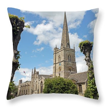 Church Of St John The Baptist Throw Pillow