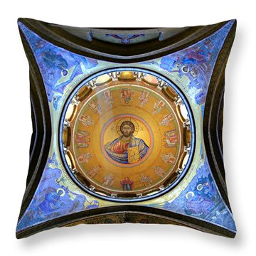 Church Of The Holy Sepulchre Catholicon Throw Pillow by Stephen Stookey