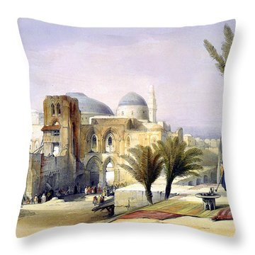Church Of The Holy Sepulchre In Jerusalem Throw Pillow