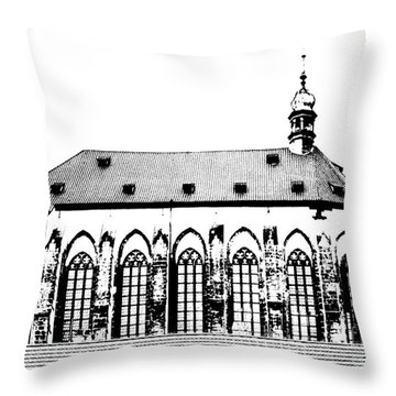 Church Of The Virgin Mary Of Snow Throw Pillow by Michal Boubin