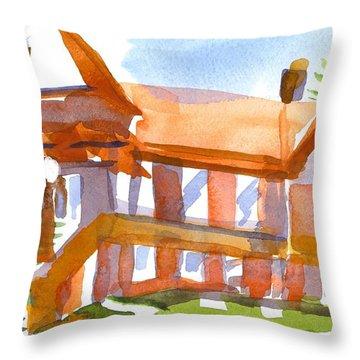 Church On Shepherd Street 4 Throw Pillow by Kip DeVore