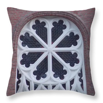 Church Rose  Throw Pillow