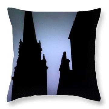 Church Spire At Dusk Throw Pillow