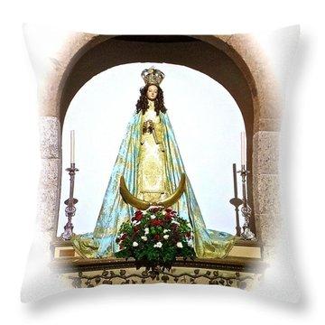 Church Statue Throw Pillow