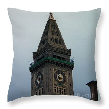 Throw Pillow featuring the photograph Church Steeple In Boston by Gena Weiser