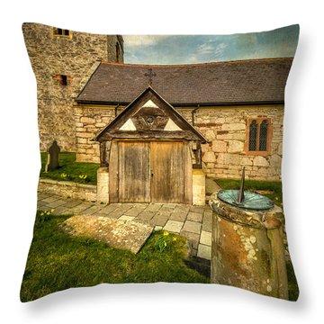 Church Sundial 1806 Throw Pillow