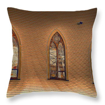 Church Windows Throw Pillow