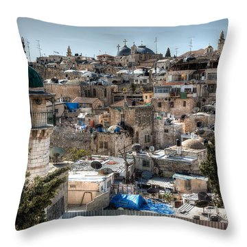 Churches And Mosques Throw Pillow