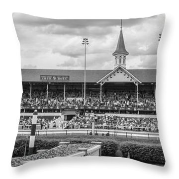 Churchill Downs And Twin Spires  Throw Pillow