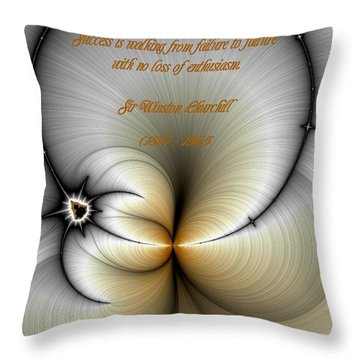 Churchill On Success Throw Pillow