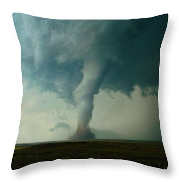 Churning Twister Throw Pillow