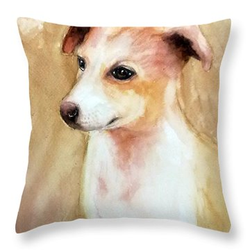 Chutki The Pet Dog Throw Pillow
