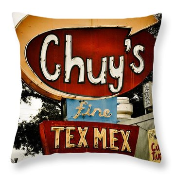 Chuy's Sign 2 Throw Pillow
