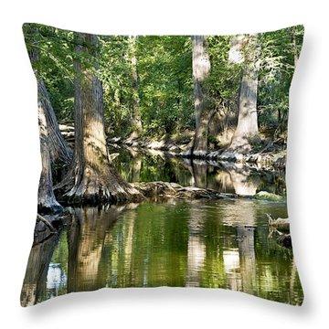 Cibolo Creek - 3 Throw Pillow