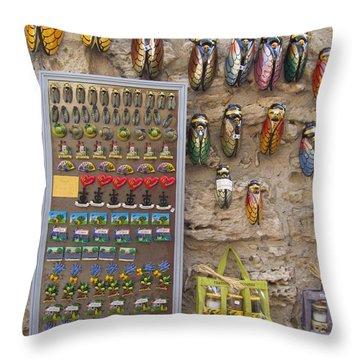Cicada Souvenirs Throw Pillow by Pema Hou