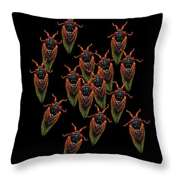 Cicadas Throw Pillow by R  Allen Swezey