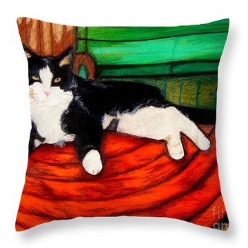 Cici The Cat Throw Pillow